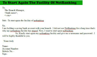 to start again the netbanking application