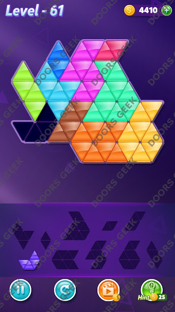 Block! Triangle Puzzle Master Level 61 Solution, Cheats, Walkthrough for Android, iPhone, iPad and iPod