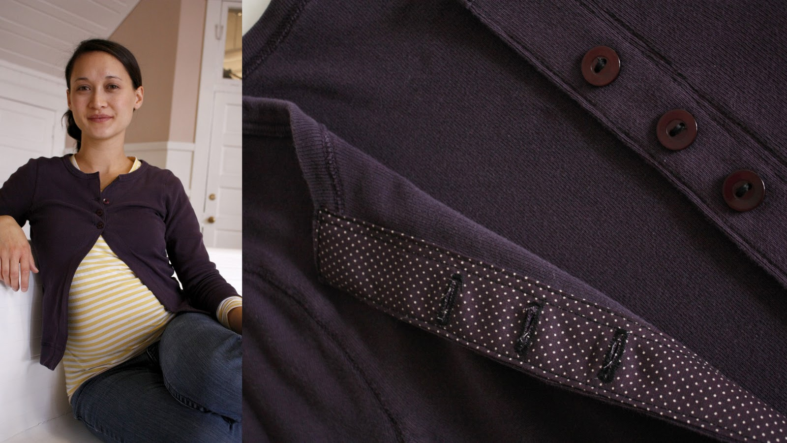 69080742e095 I increased my stitch length as much as I could with this purple cardigan  and achieved MUCH better results. This is also a thick knit shirt, ...