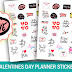 Valentines Day Planner Stickers