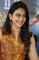 Rakul Preet Singh smiling Beautyin Brown Deep neck Sleeveless Gown at her interview 2.8.17 ~  Exclusive Celebrities Galleries 200.JPG