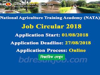 National Agriculture Training Academy (NATA) Job Circular 2018