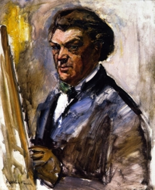 Othon Friesz, Self Portrait, Portraits of Painters, Fine arts, Portraits of painters blog, Paintings of Othon Friesz, Painter Othon Friesz