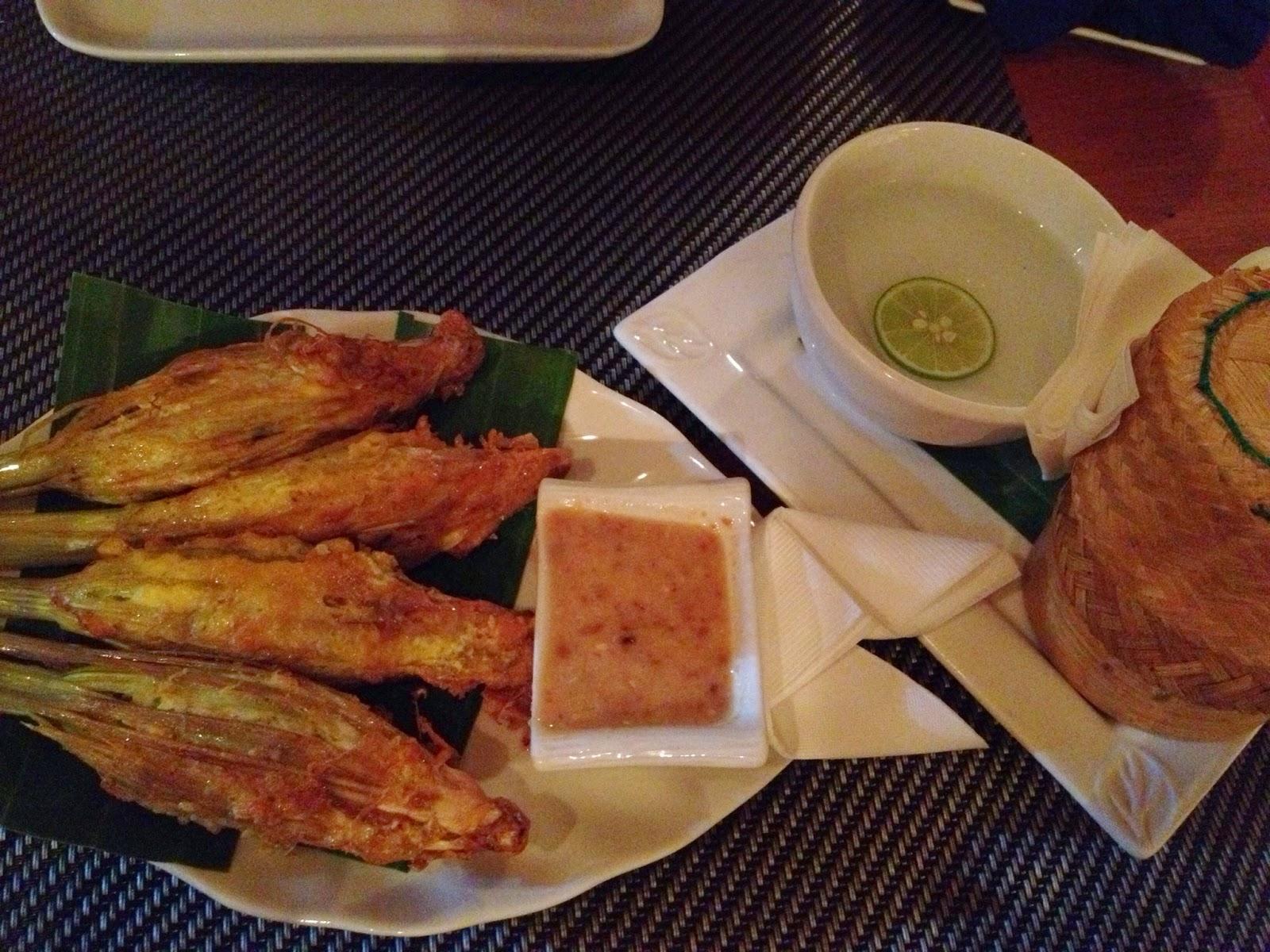 Luang Prabang - Tamarind restaurant - lemongrass stuffed with chicken