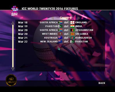 HD Studioz ICC World T20 2016 Fixtures For Cricket 07