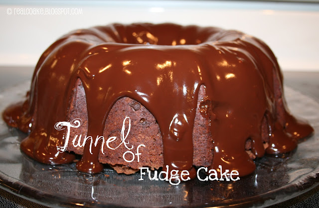 Tunnel of Fudge Cake on a plate