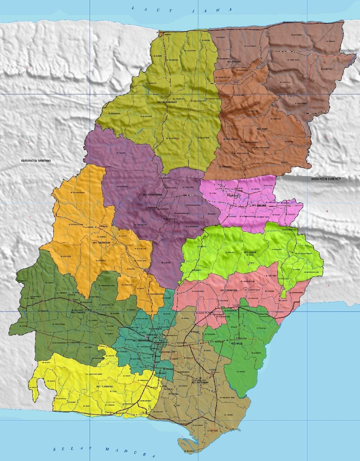 Peta Kabupaten Pamekasan