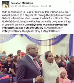 Whayasay?... A 52yrs old Nigerian Lady Gets Married for the First Time with a 56yr old man. (Photos & Details)