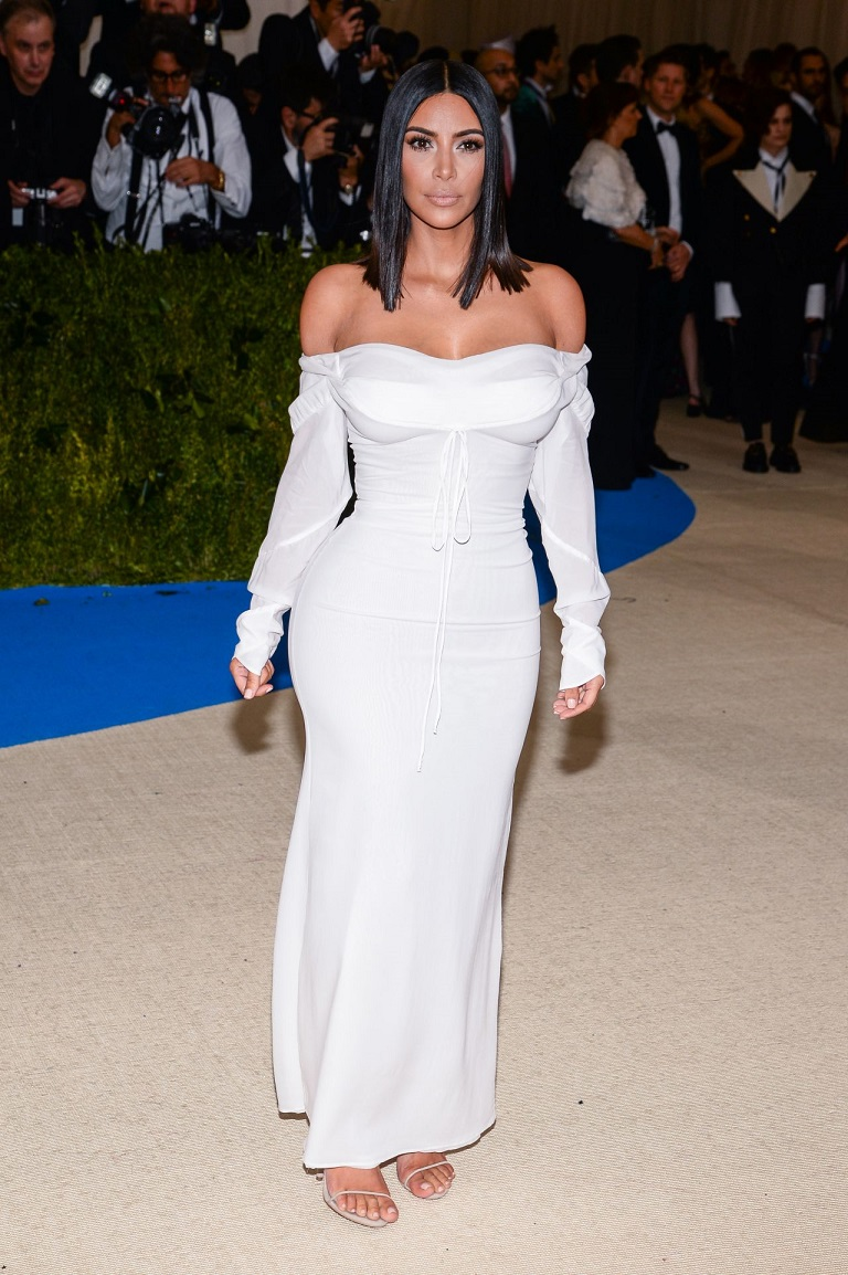 Kim Kardashian goes sans jewels at the 2017 Met Gala