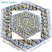 crochet patterns, how to crochet, hearts, hexagon hearts, hearts afghans,