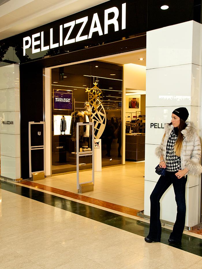 new concept 1f580 ef881 Look invernale in bianco e blu da Pellizzari Verona