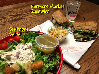 Southern Salad and Farmer's Market Sandwich, Newk's Eatery, Chattanooga