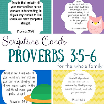 Scripture Sunday ~ A series of printable Scripture cards to memorize as a family!