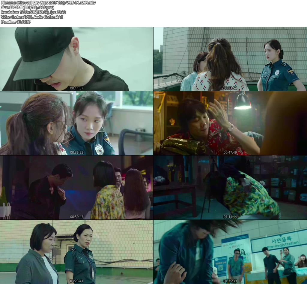 Miss And Mrs Cops 2019 720p WEB-DL x264 | 480p 300MB | 100MB HEVC Screenshot