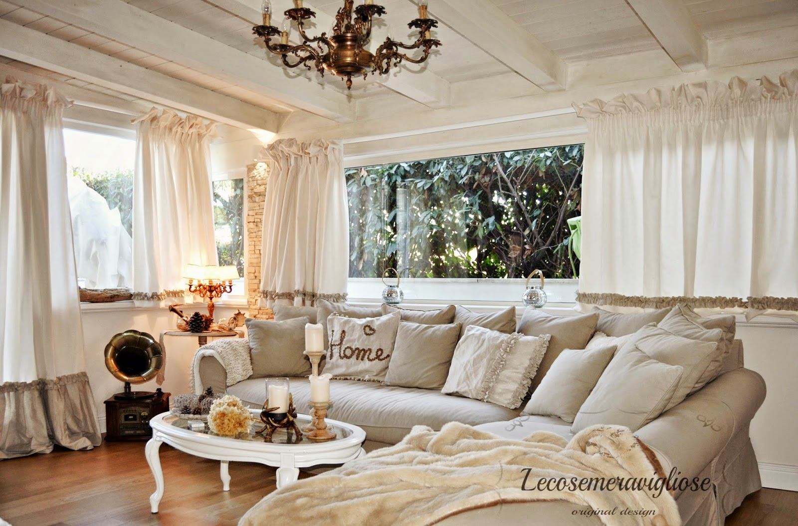 Lecosemeravigliose shabby e country chic passions tende for Casa country chic