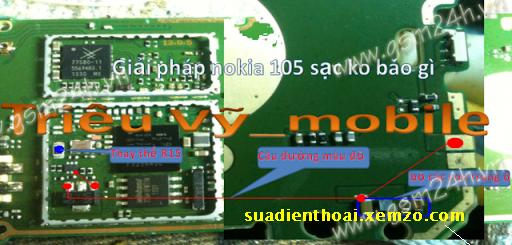 Nokia 105 sạc ko báo gì_105 lỗi sạc