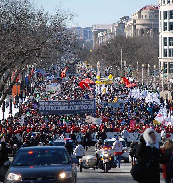 Marcha pela Vida, Washington DC, congrega maioritária participação católica todo ano