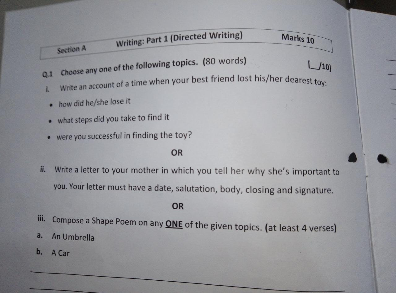 English Grand Revision Worksheet