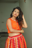 Shubhangi Bant in Orange Lehenga Choli Stunning Beauty ~  Exclusive Celebrities Galleries 058.JPG