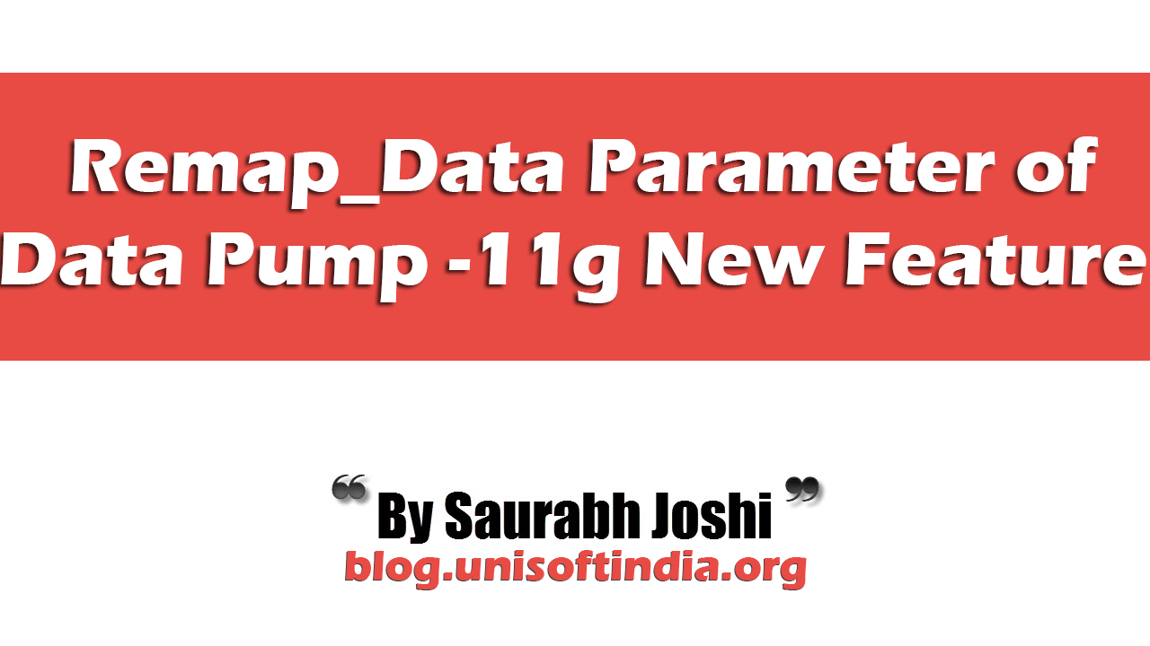 REMAP_DATA Parameter of Oracle Data Pump Export (expdp)/ Import
