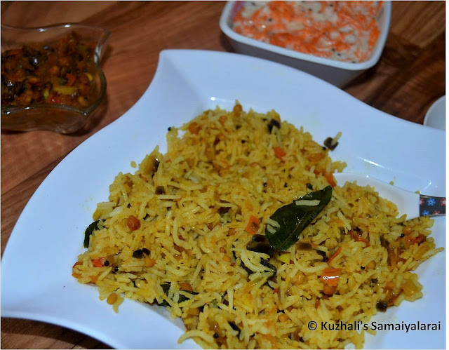 TOMATO RICE- SOUTH INDIAN TOMATO RICE(THAKKALI SATHAM) RECIPE- VARIETY RICE RECIPES