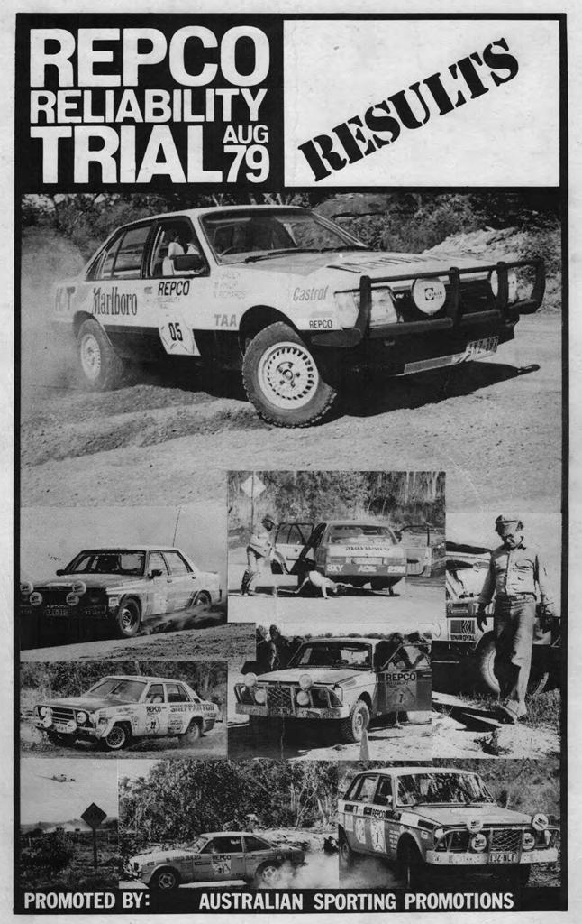 Bob Richards Toyota >> REPCO RELIABILITY TRIAL 1979: Results