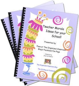 Want your copy of the free Teacher Morale Ideas eBook?