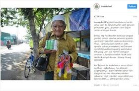 Kakek Ini Jualan Tasbih Berjalan Kaki Hingga Puluhan Kilometer Berharap Bisa Naik Haji