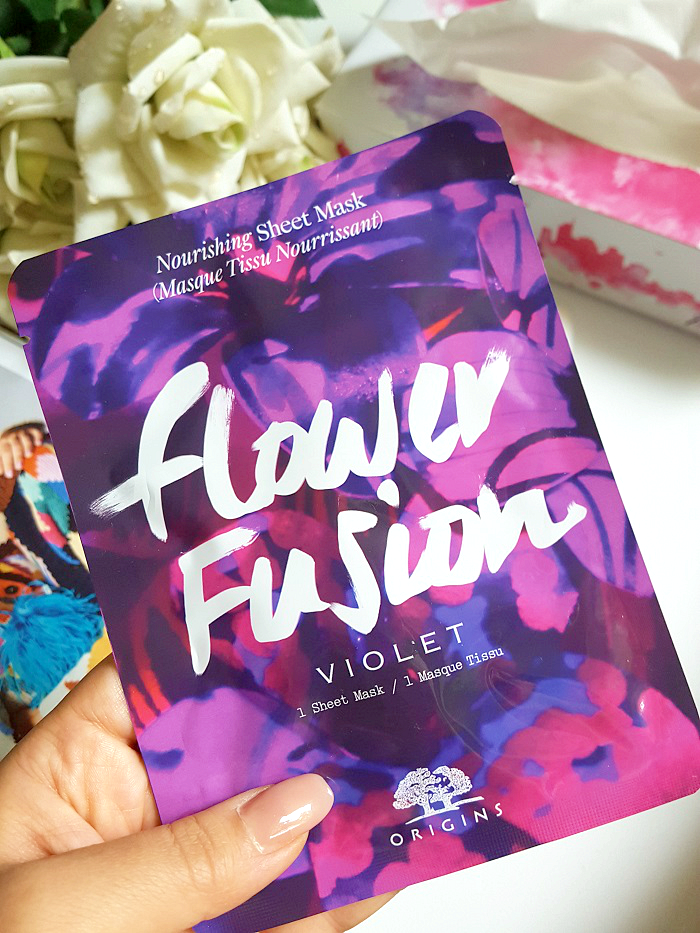 Review: ORIGINS - Flower Fusion Violet Nourishing Sheet Mask - 1 Stück - 5.00 Euro