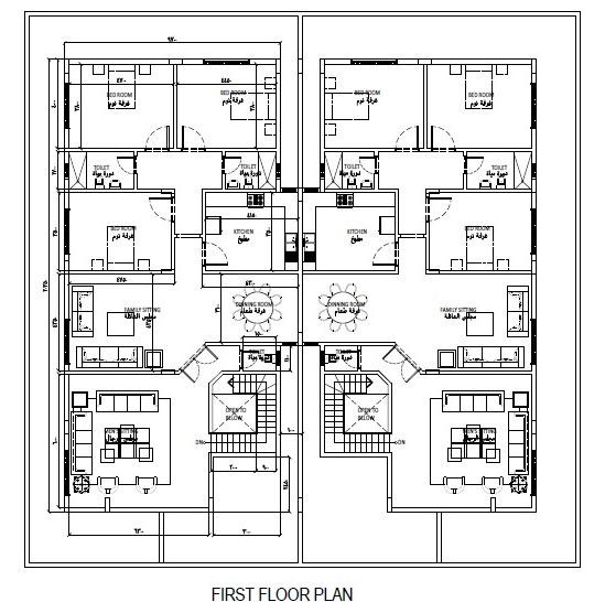 Bnb architects proposal floor plan for the two storey for 2 story apartment floor plans