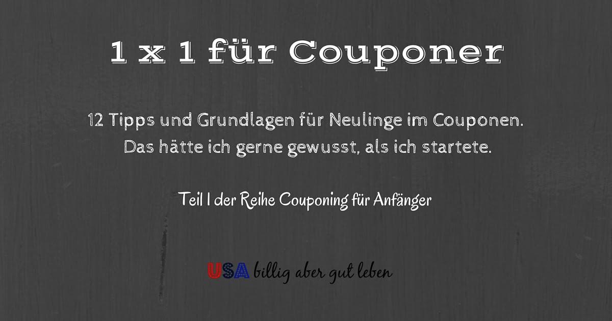Usa billig aber gut leben 1 schritt grundlagen fuer couponer for Billig leben