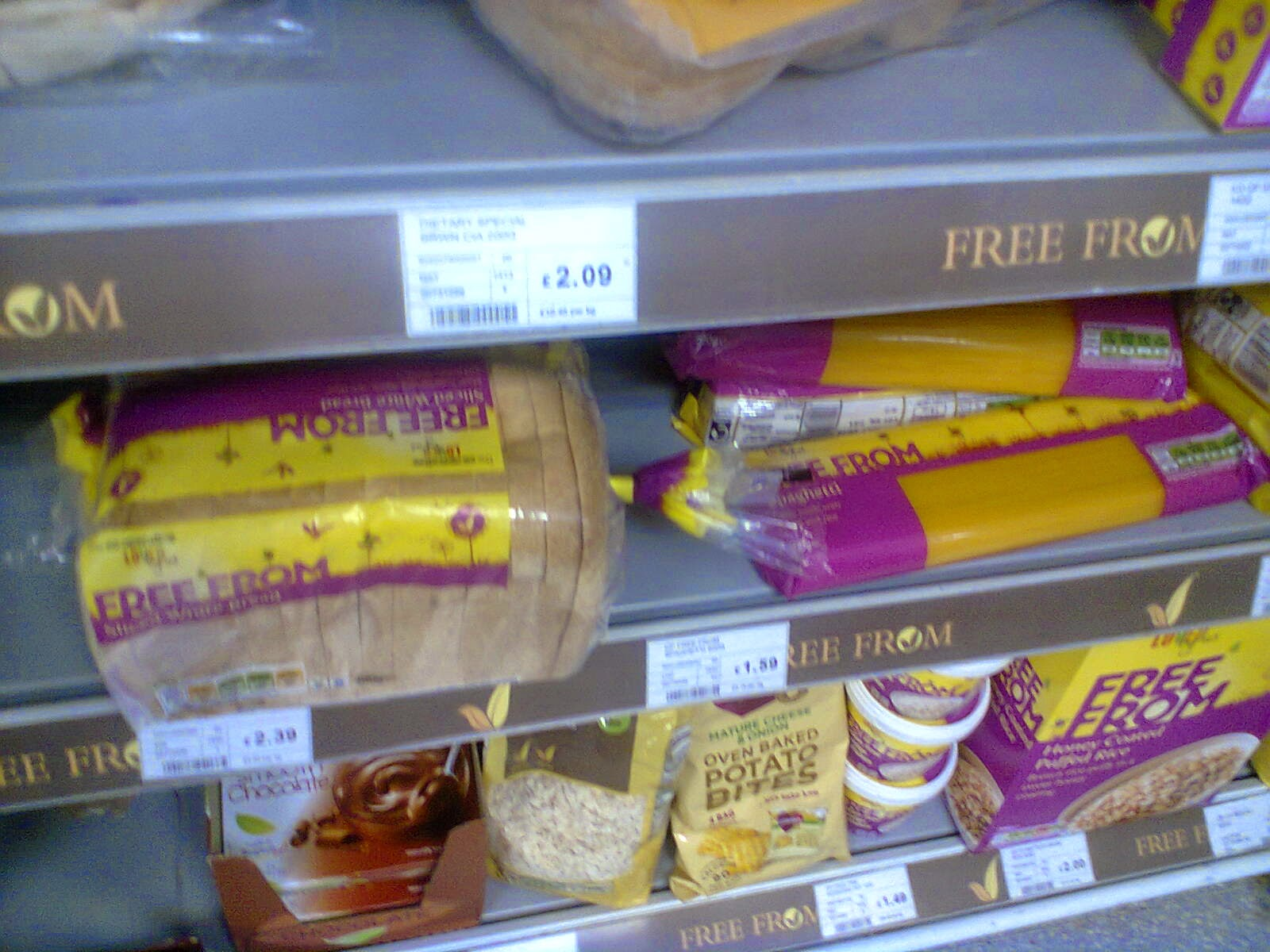 The Co-operative's new Free From bread and spaghetti