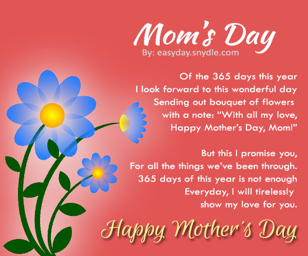 Happy Mothers Day Quotes From Step Daughter: Happy Mothers 2016 Day Poems Quotes