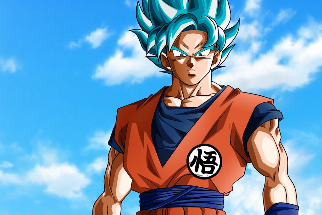 Dibujo De Goku Super Sayayin Dios Fase 5 Pintado Por En: Imagenes De Dragon Ball Z Para Colorear Y Todos Sus