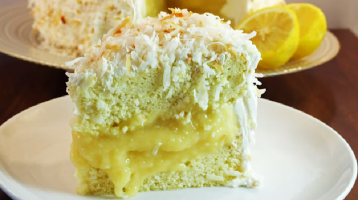 Lemon, coconut, buttery, moist, tender… this is the cake of your dreams!