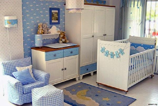 Les chambres complètes bleu pour bébé