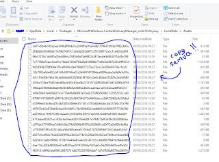 cara untuk mengetahui lokasi folder tempat foto Spotlight Lock Screen windows 10