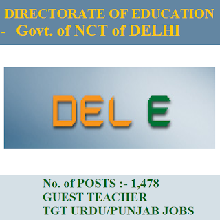 Directorate of Education - Govt. of NCT of Delhi, freejobalert, Sarkari Naukri, Delhi Education Department Answer Key, Delhi Education Department, Answer Key, delhi education dept. logo