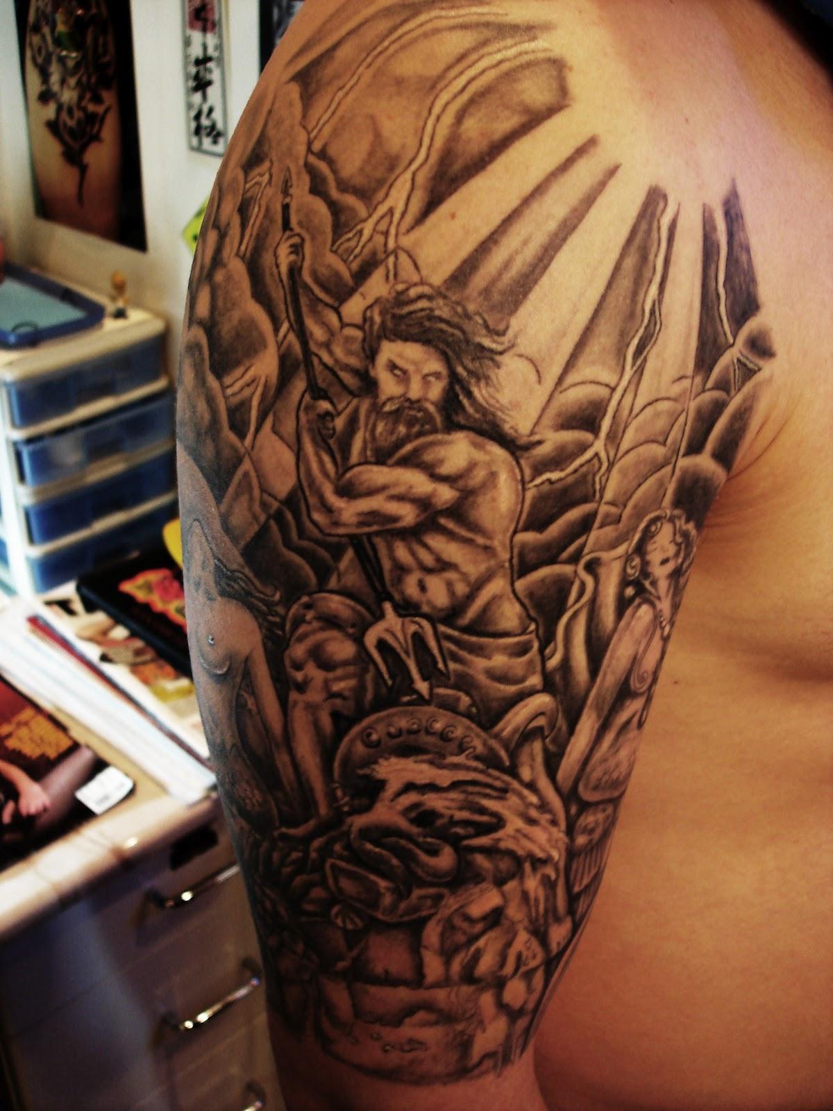 neptuno tatuajes tattoo poseidon significado su toop