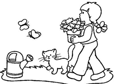Kids Garden Coloring Pages