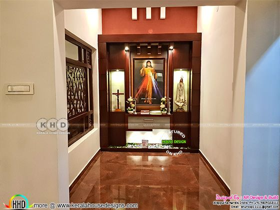 Christian Prayer room design in Kerala