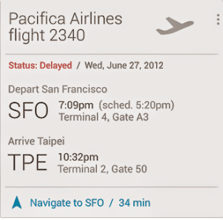 Google Now Flight Card Image
