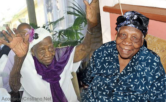 Anciana de 117 años, Violet Mosses Brown