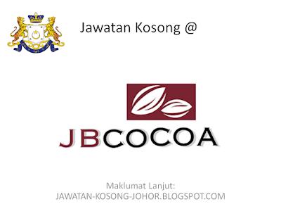 Jawatan Kosong Di JB Cocoa Sdn Bhd, Executive Logistic