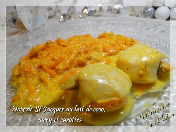 Gourmande sans gluten noix de st jacques au lait de coco - Noix de saint jacques curry ...