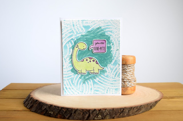 Dinosaur Card by Jess Crafts featuring Neat and Tangled Prehistoric and Shimmerz Paints #neatandtangled #jesscrafts #shimmerzpaints