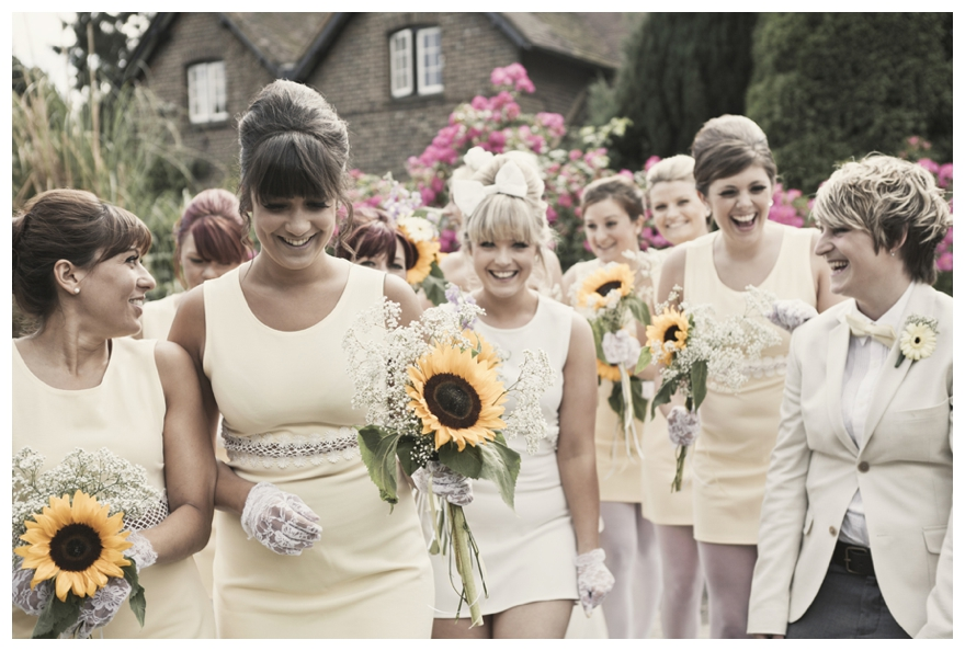 Wedding Day Ideas: Real Vintage Sunflower Wedding: Chanelle & Terry