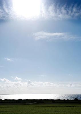 sol över Höganäskusten