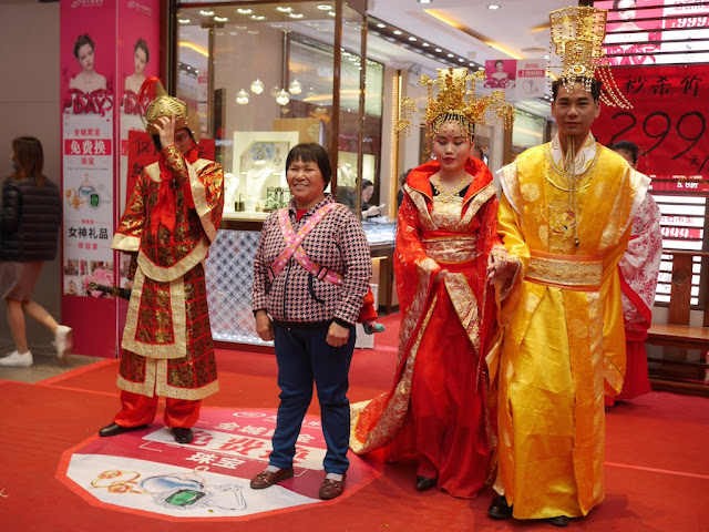 woman posing for photo with pretend royalty