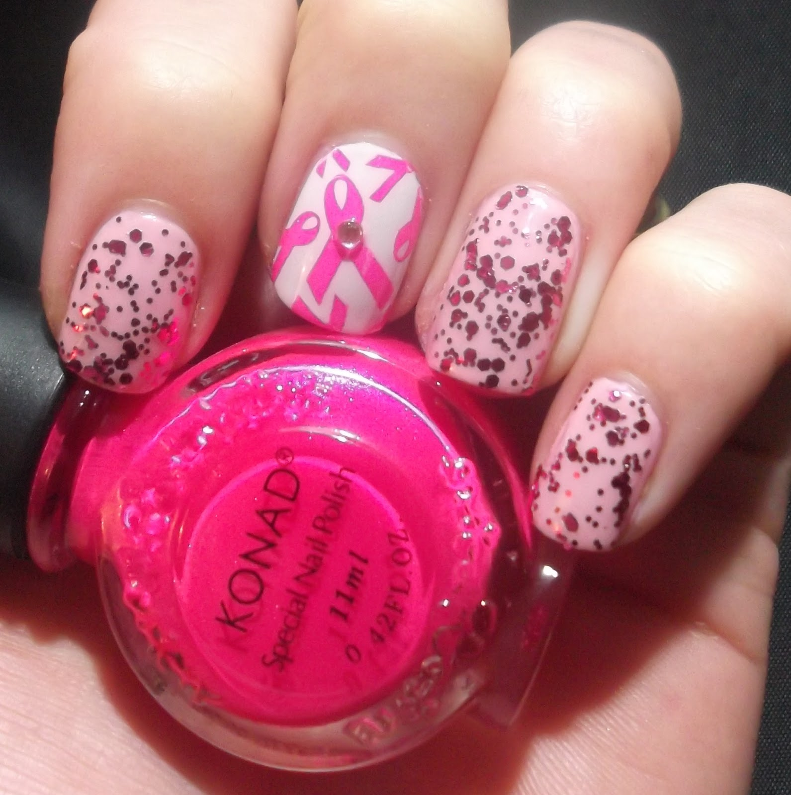 Lou is Perfectly Polished: Breast Cancer Awareness Nail Art